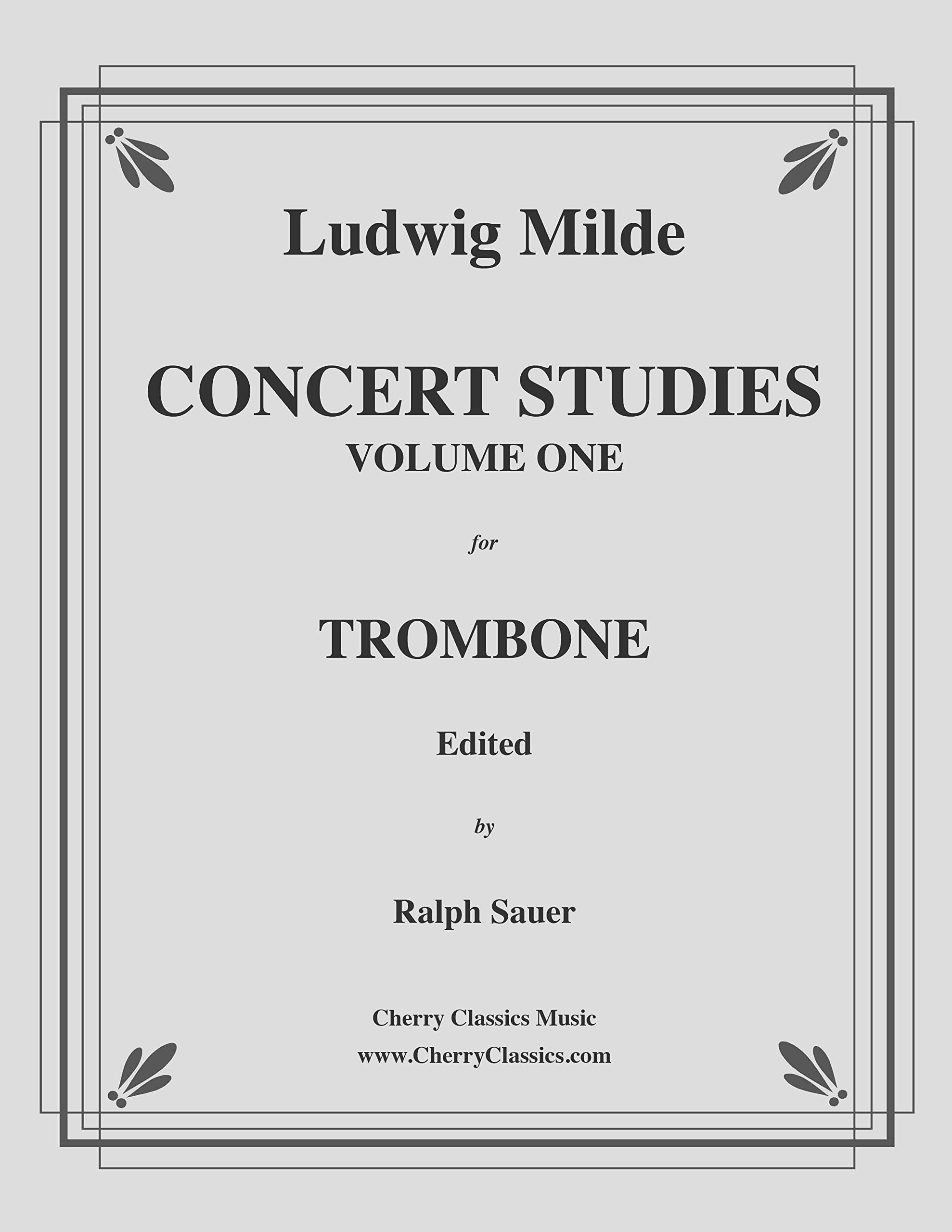 Concert Studies for Trombone, Volume 1 edited by Ralph Sauer