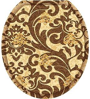 Toilet Tattoos TT-1060-R Bordeaux Decorative Applique for Toilet Lid Round