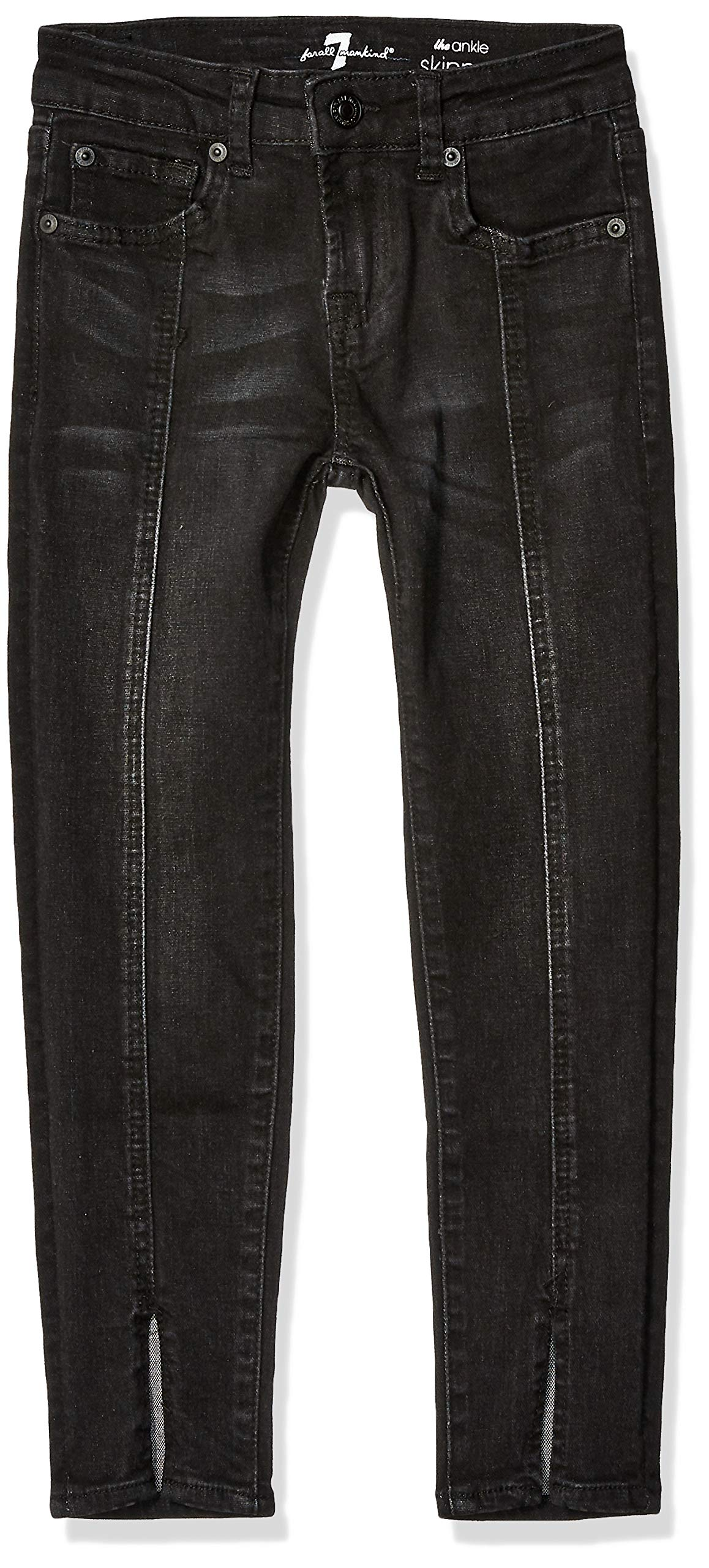 7 For All Mankind Kids Girls' Big Ankle Skinny Stretch Jean, Black Sands, 10 by 7 For All Mankind (Image #1)