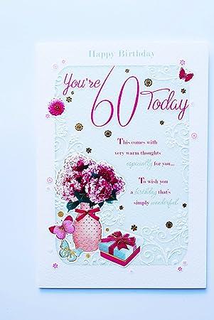 Happy 60 Geburtstag Karte 60 Heute Für Frauen Vers Gedicht