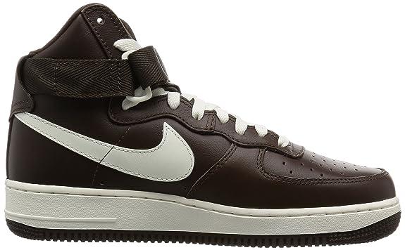 Nike Air Force 1 HI Retro QS, Zapatillas de Balonmano para Hombre, Blanco/Marrón (Summit White/Chocolate), 45 EU