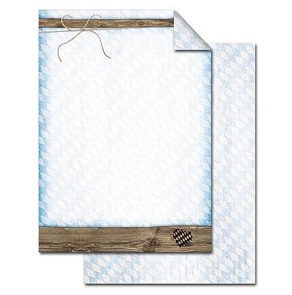 Kopierpapier 25 Blatt Briefpapier Druckerpapier DIN A4 hellblau Farbe
