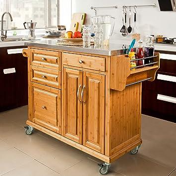 SoBuy XXL Servierwagen, Küchenregal, Buttler, Möbel Küche ...