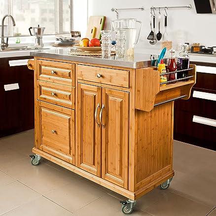 SoBuy® Carrello di servizio, Scaffale da cucina,Buttler,Mobili ...