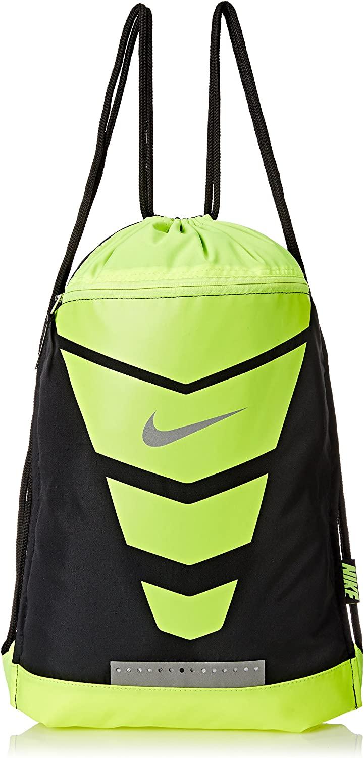 Men's Nike Vapor Gym Sack Black Volt Metallic Silver Size One Size