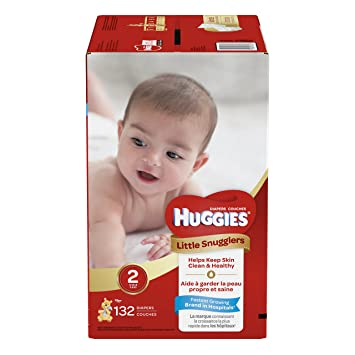 HUGGIES Little Snugglers Baby Diapers Size 2 132 Count Packaging May Vary