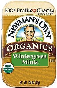 Newman's Own Organics Mints, Wintergreen, 1.76-Ounce Tins (Pack of 6)
