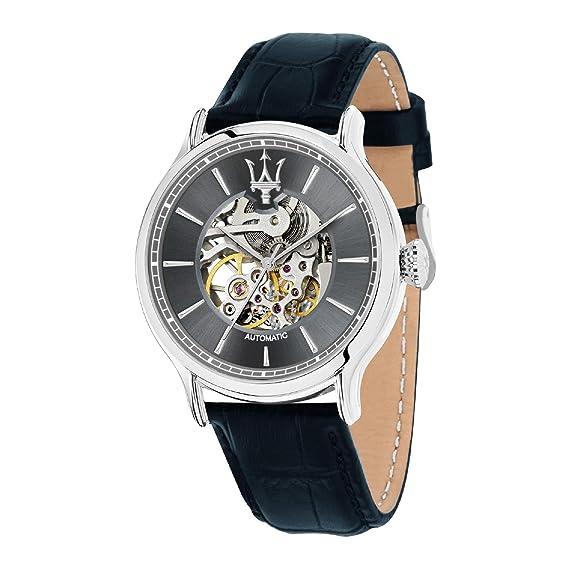 MASERATI Reloj Analógico para Hombre de Automático con Correa en Cuero R8821118002: Amazon.es: Relojes