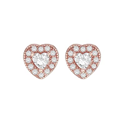 Tuscany Silver Sterling Silver Gold Plated Cubic Zirconia Stud Earrings 6QQfdk4ePU