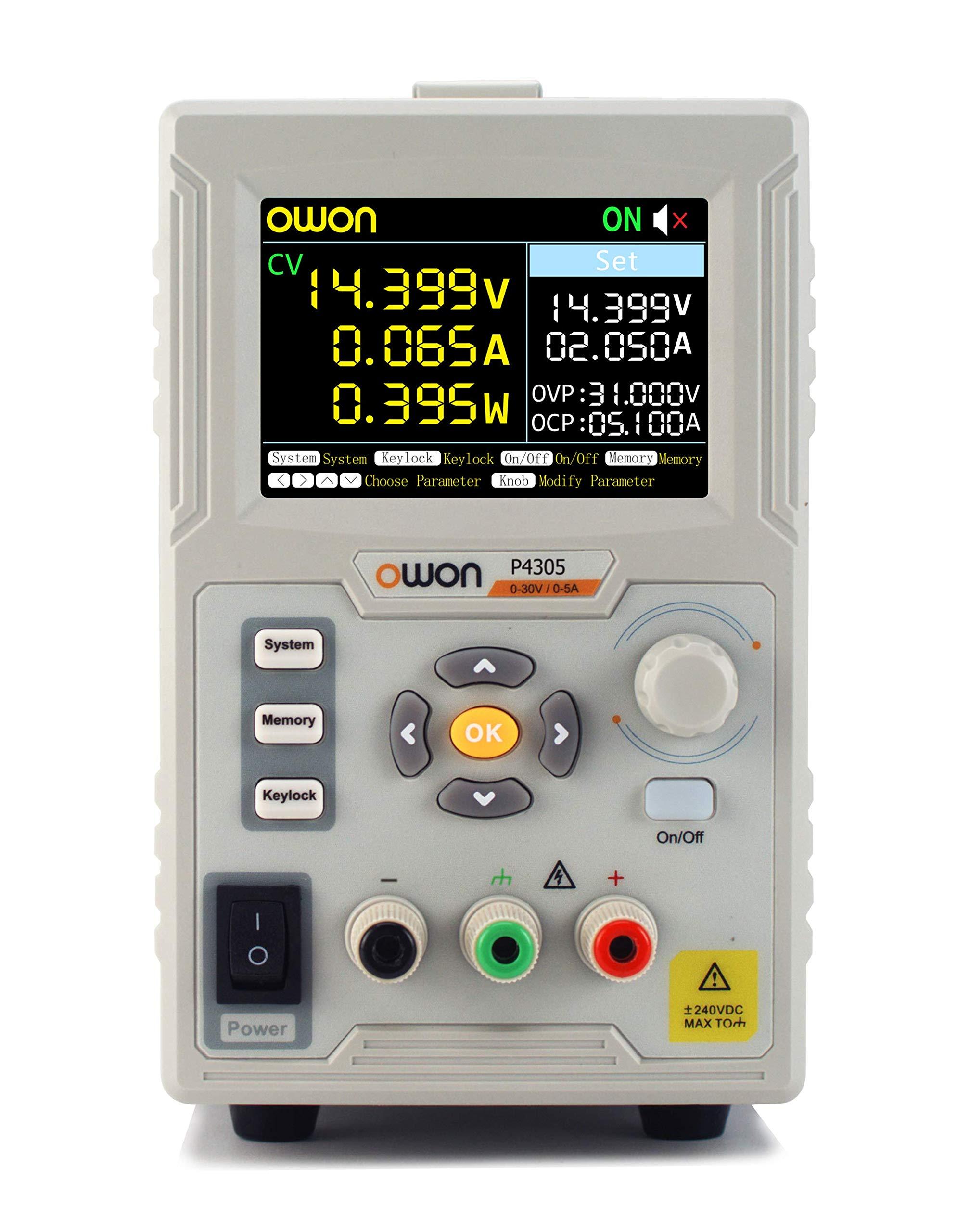 OWON P4305 Single Channel 150W Maximum Output 0-30V / 0-5A Output 1mV/1mA Linear DC Power Supply