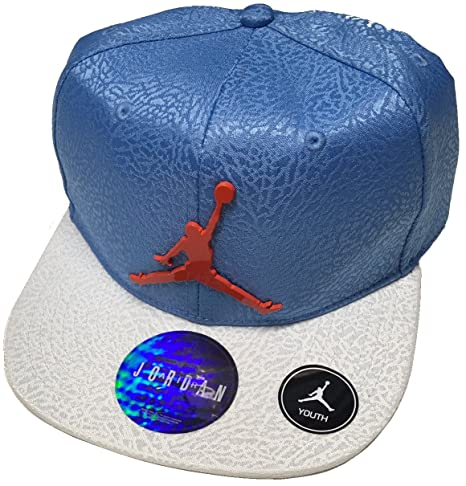 7145757c Image Unavailable. Image not available for. Color: Air Jordan Jumpman  Elephant Print Adjustable Youth Boy's Cap ...