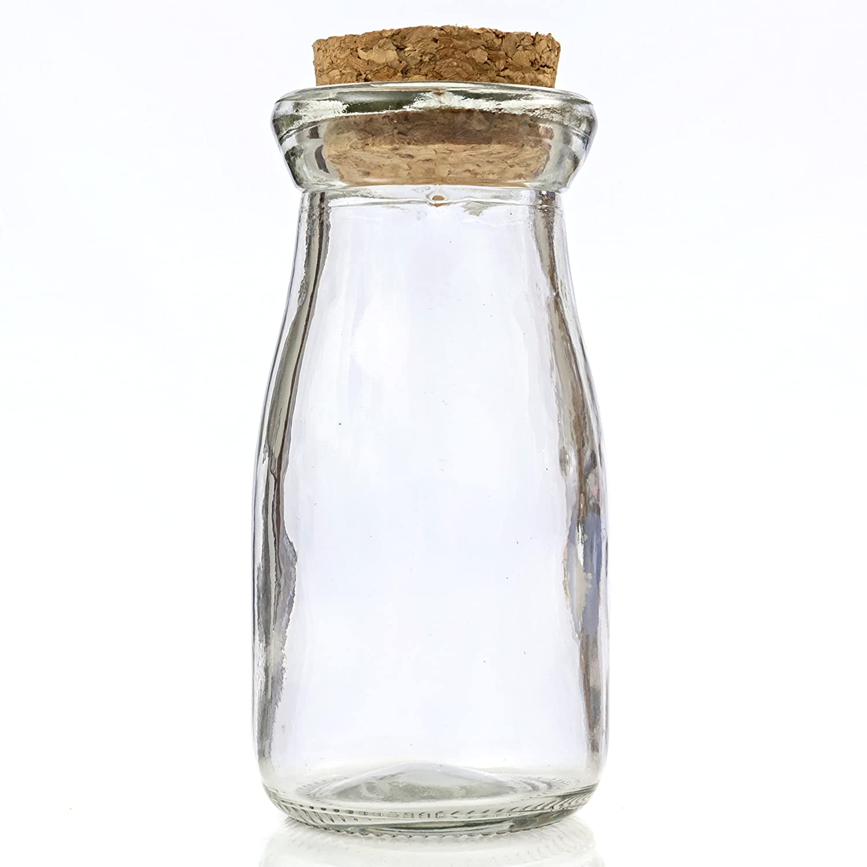 Amazon.com: Mini Vintage Glass Milk Bottles with Cork 24 pieces for ...