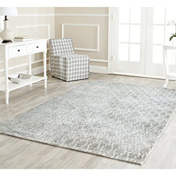 Safavieh Mirage Collection MIR521A Hand Knotted Grey Wool Area Rug 7 6quot