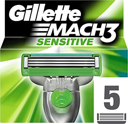 Gillette Mach 3 Cuchillas de Recambio para Maquinilla de Afeitar ...