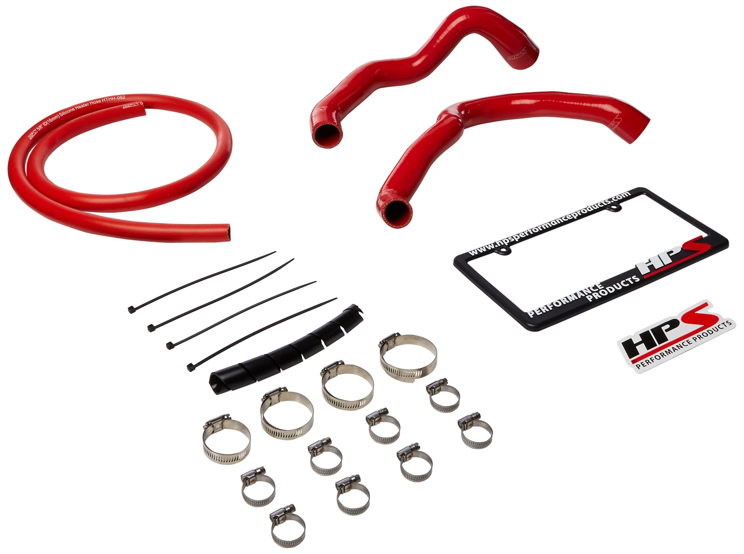 HPS 57-1338-RED XJ Silicone Radiator and Heater Hose Kit Coolant by HPS