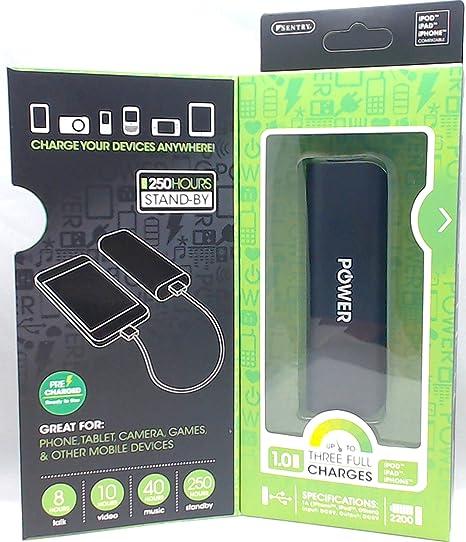 Amazon.com: 2200 mAh, cargador de batería externa portátil ...