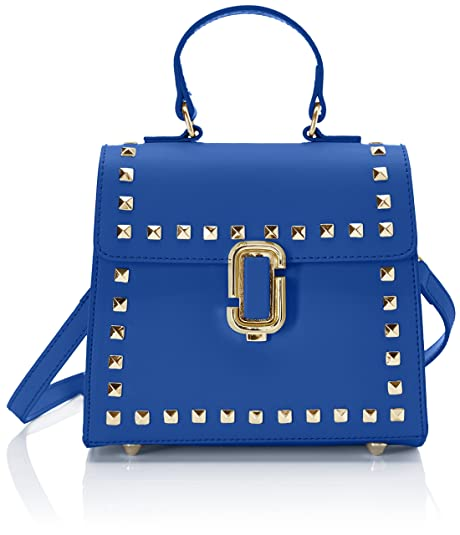 ea00bebc Chicca Borse Mujer Bolso de mano Azul Size: 20x18x11 cm (W x H x L ...
