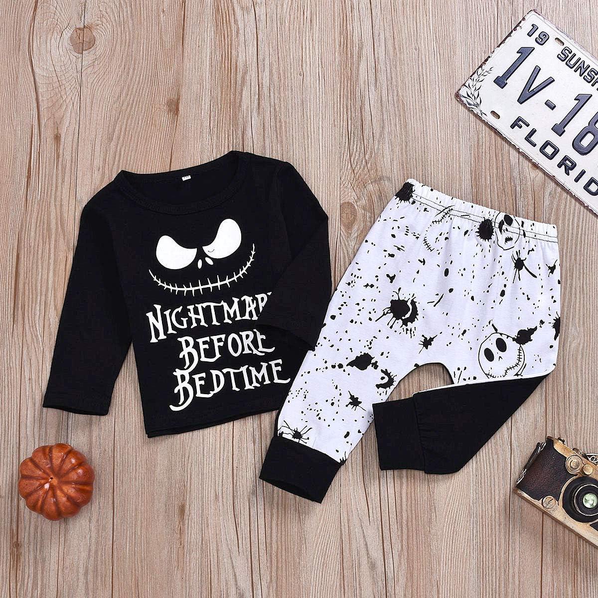 Baby Pajama Set Boys Girls Snug fit Pjs Cute Kids Toddler Nightmare Sleepwear