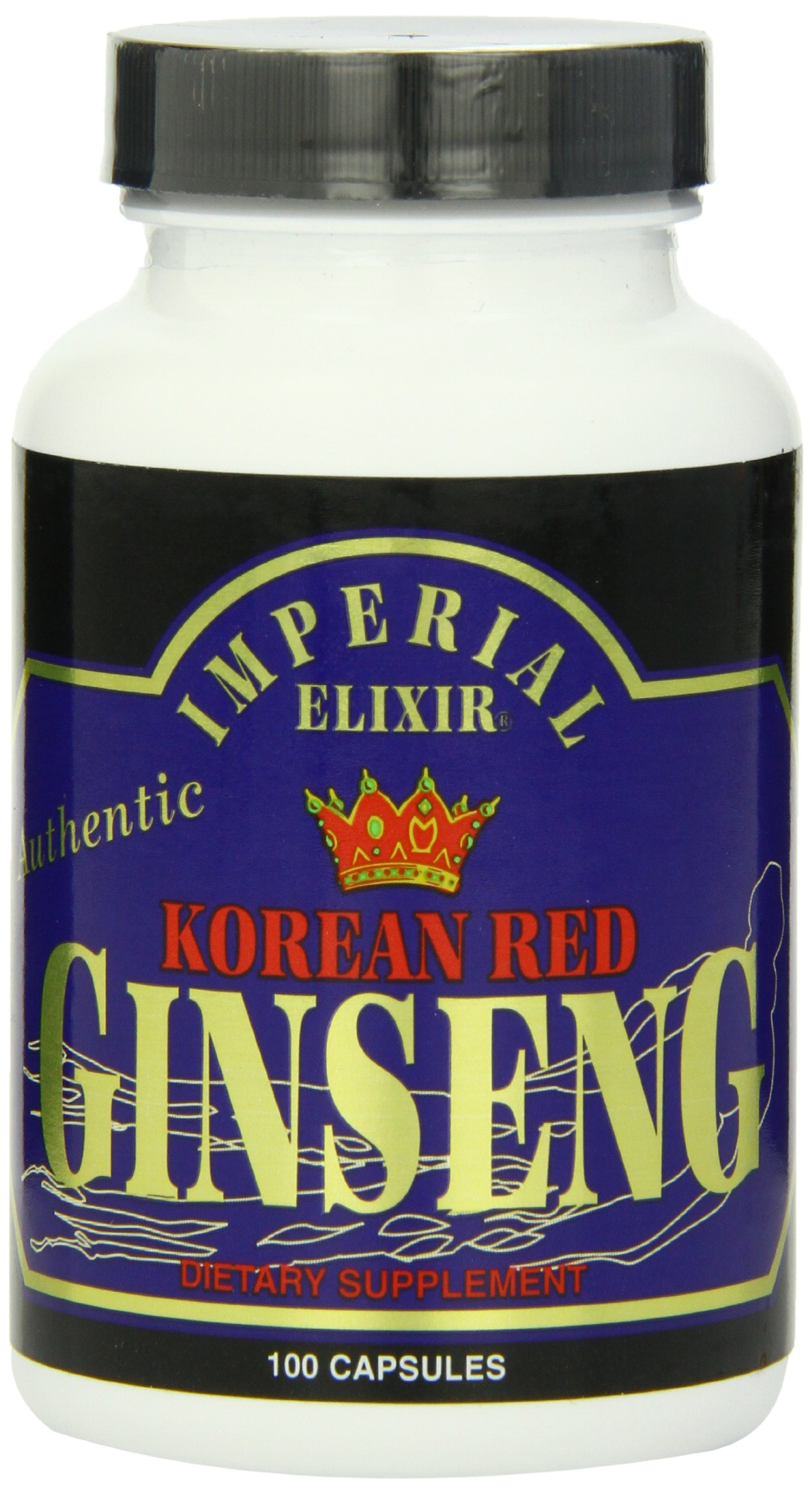 Imperial Elixir, Korean Red  Ginseng, 600 mg, 100 Capsules