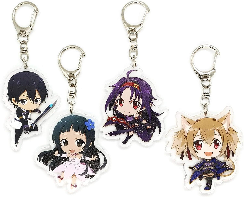 Kirito Set of 2 Sword Art Online SAO Anime Acrylic Keychain Asuna