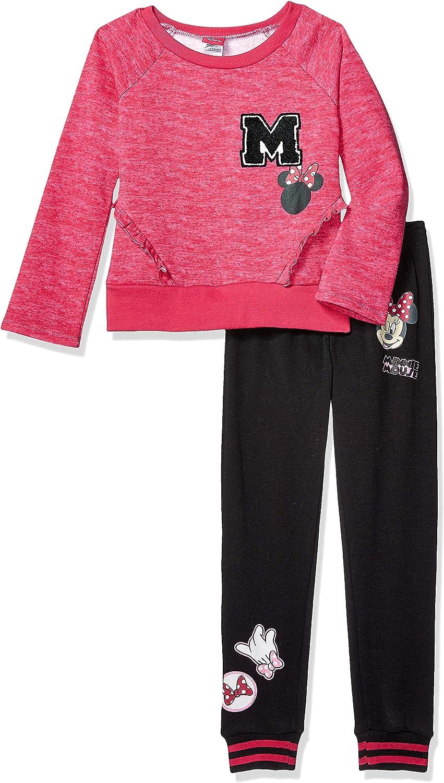 Disney Girls Minnie Mouse 2 Piece Sweatshirt and Jogger Set