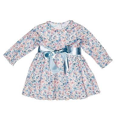d6da3591dde Amazon.com  Liberty of London Pink Floral Ruffled Baby Dress  Clothing