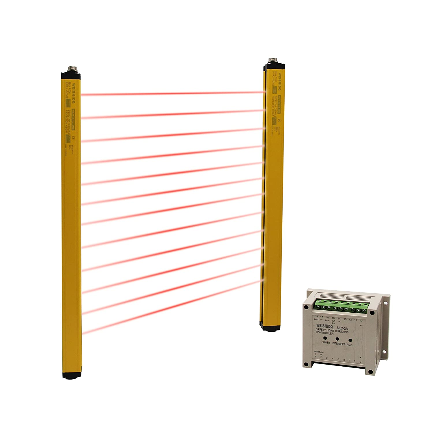 CGOLDENWALL Safety Light Curtains light screen sensor safety grating punching machine protector &Sensing height:920mm (Customizable)