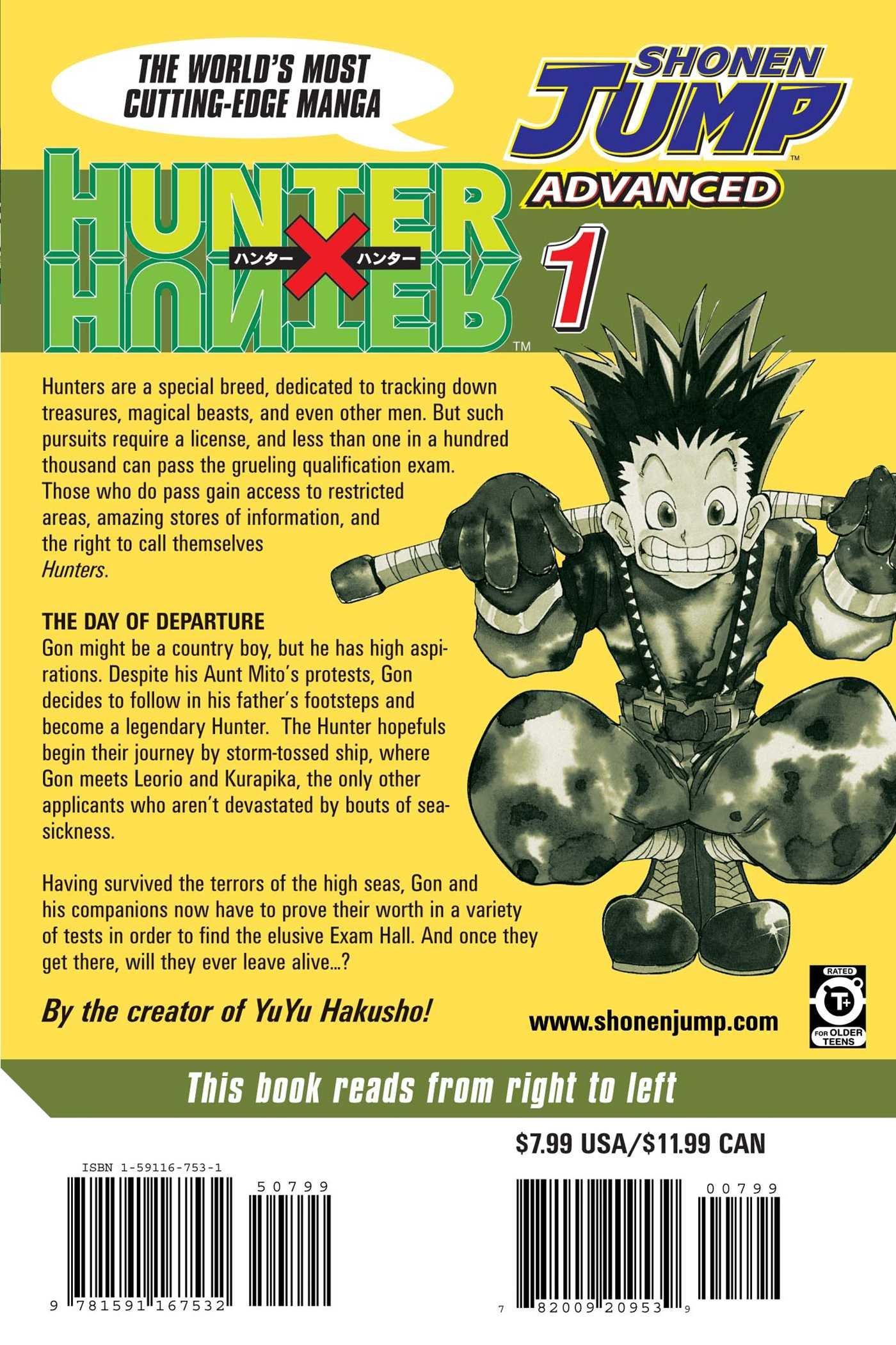 Hunter x Hunter, Vol. 1: Yoshihiro Togashi: 9781591167532: Amazon ...