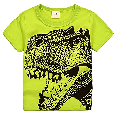 2Bunnies Little Boys Toddler Dinosaur T Rex Short Sleeve Tee T Shirt