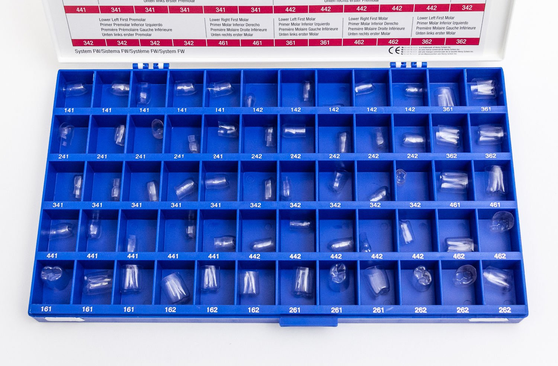 Dental Transparent Strip Off Crowns F Posterior Kit 60 pcs