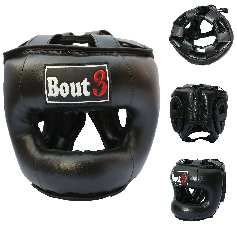 Profesional MMA Kopfschutz Cajas Casco Protección para Libre Lucha Muay Thai Kickboxing UFC Sparring de entrenamiento Krav Maga Deportes de Lucha Saco de boxeo de alta calidad construcción-de bout3 Oxlam Industries