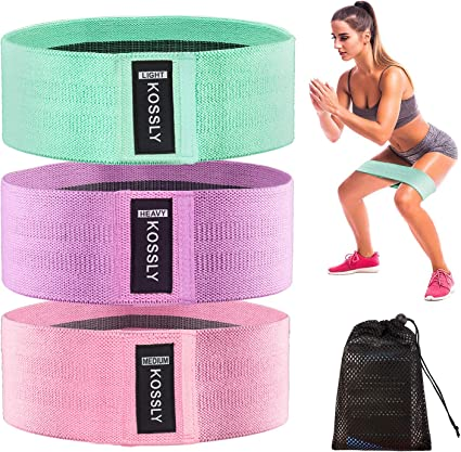 Fabric Resistance Bands Set for Legs Glutes /& Hips Exercise Women Booty Bands