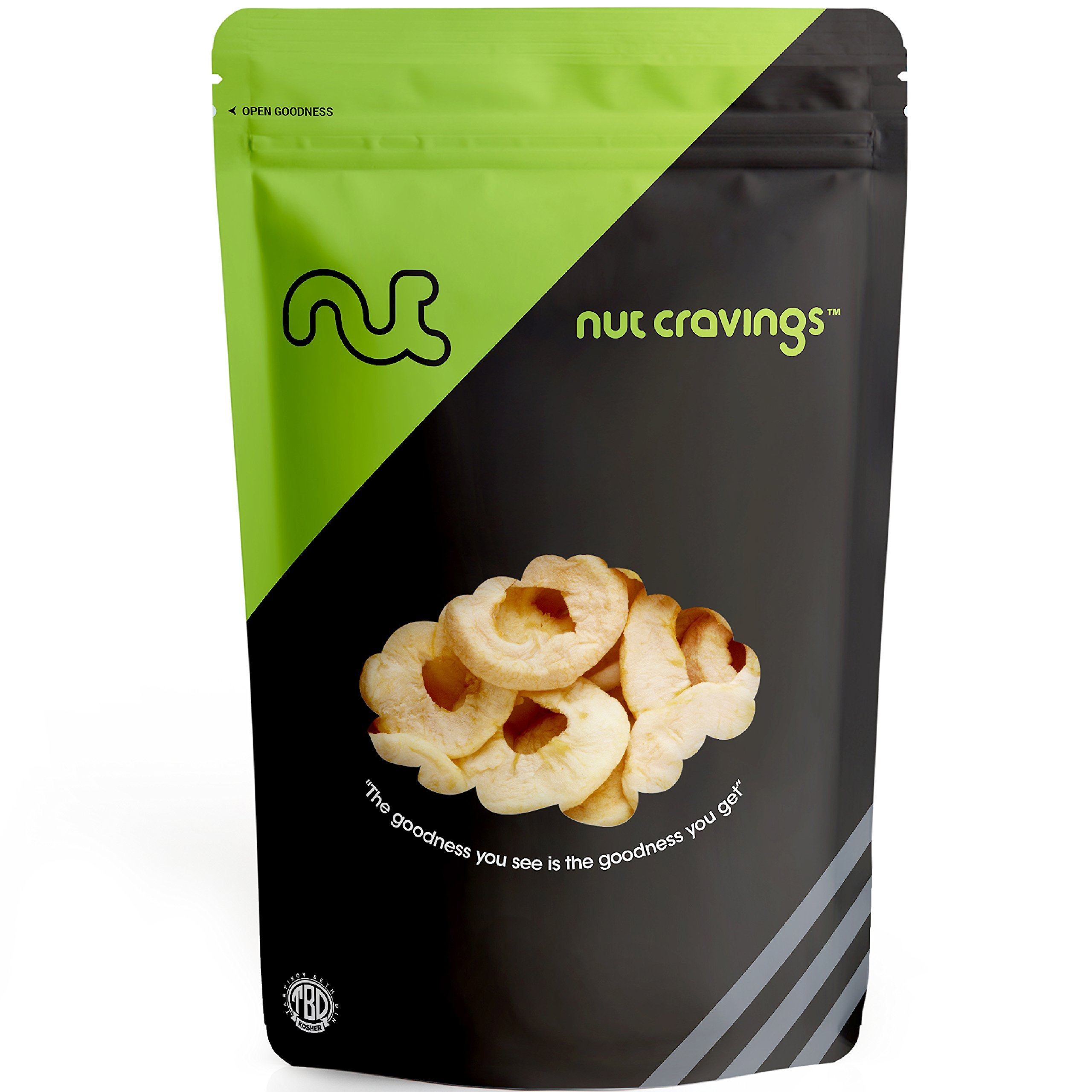Nut Cravings - Dried Apple Rings - Sweet, Healthy Dehydrated Fruit Snacks - SAMPLER SIZE by Nut Cravings