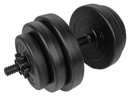 Tunturi Weight Set Mancuernas Vinilo, Unisex Adulto, Negro, 15 kg