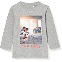NAME IT Nmmmickey Emil LS Top Wdi Sudadera para Niños
