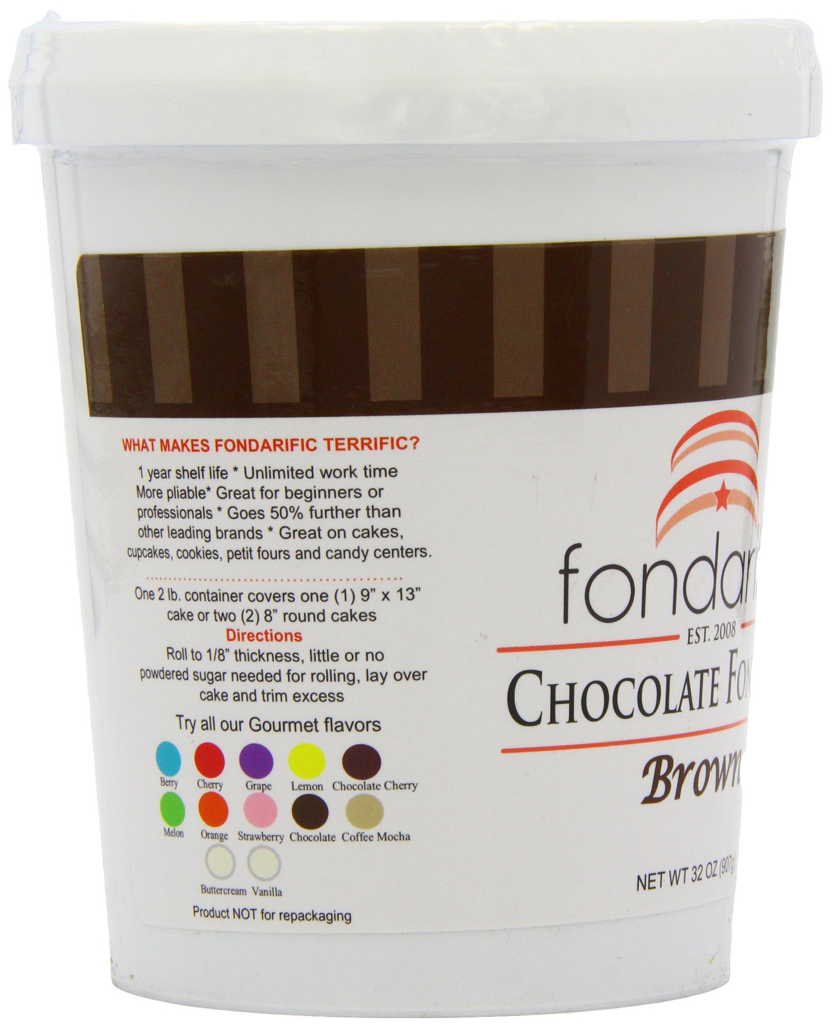 Fondarific Chocolate Fondant Brown, 2-Pounds by Fondarific (Image #9)