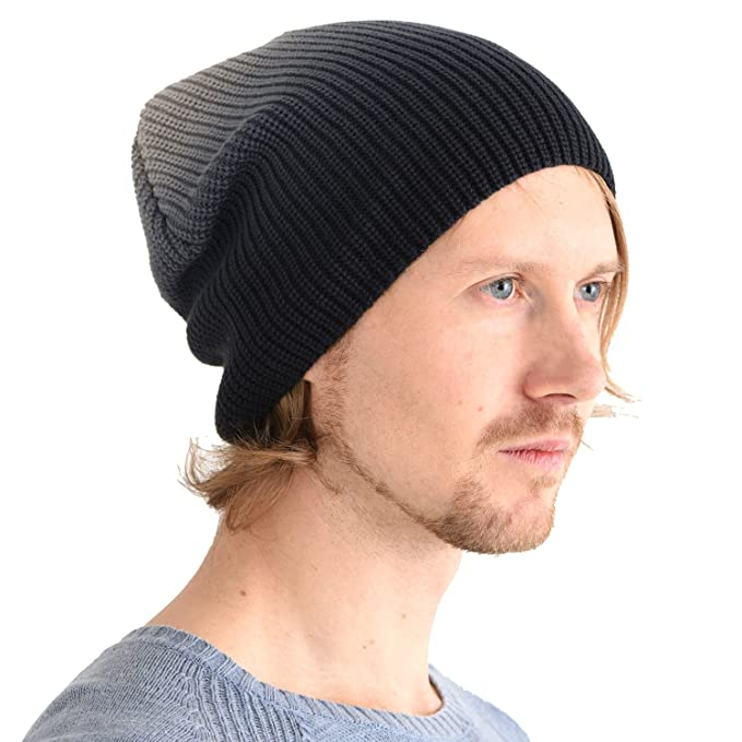6d414c16f0a CHARM Cotton Slouchy Beanie for Men and Women - Summer Slouch Cap Warm  Winter Watch Hat