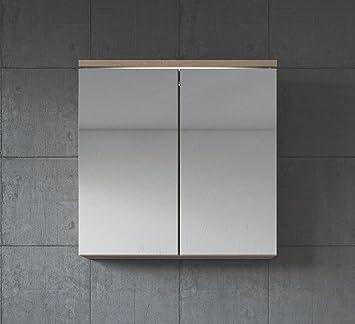 Badezimmer Spiegelschrank Toledo 60 cm Sonoma Eiche – Stauraum ...
