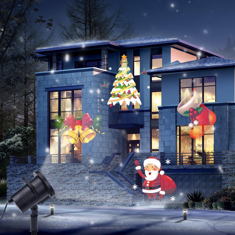 vsllcau Proyector Luces Navidad Exterior 12 Diapositivas Dinámicos ...