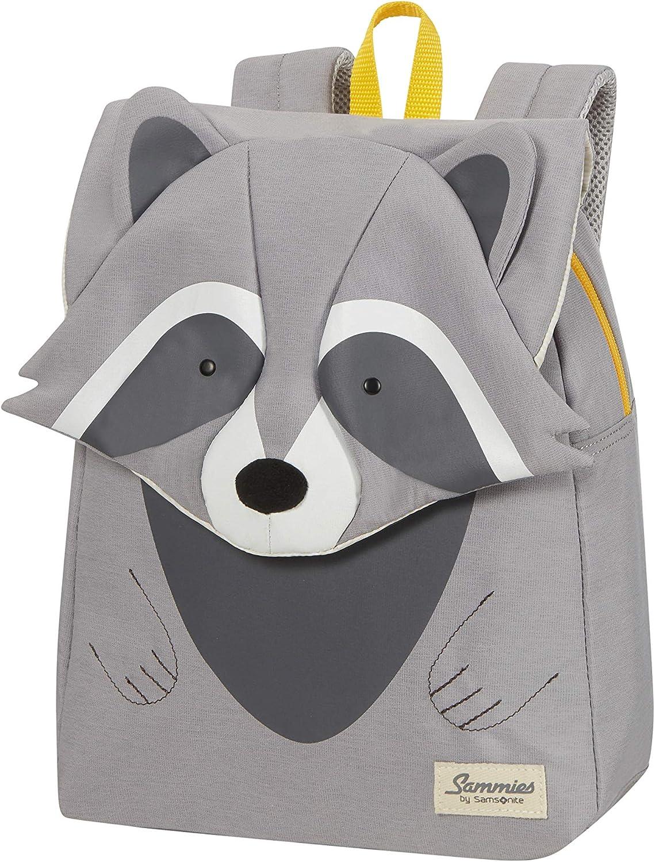 11 L Gris 32 cm Samsonite Happy Sammies Eco Raccoon Remy Sac /à Dos pour Enfant