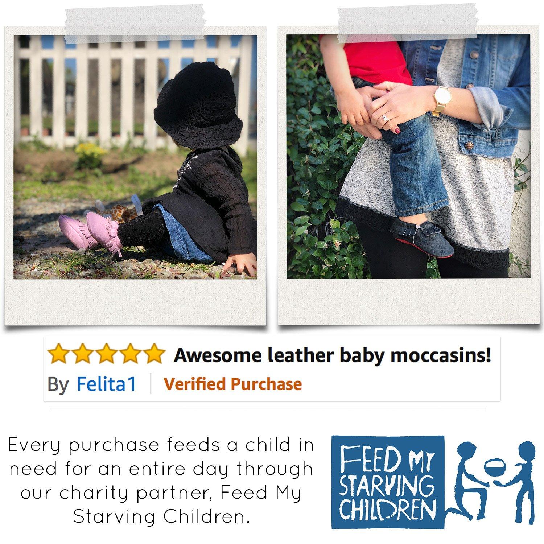 BirdRock Baby Mocasines cuero suela suave BirdRock bebé niñas zapatos infantil 06 meses de los E.E.U.U. 2 (ver tamaño carta): Amazon.es: Zapatos y ...