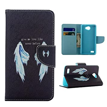 Frrency® Para LG Bello II 2 Funda Carcasa Cuero Tapa Cover Cartera PU Case con Función de Soporte (FA6) +Gratis aguja de la pantalla stylus ...