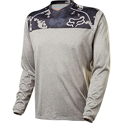 d8b63e1c5 Image Unavailable. Image not available for. Color  Fox Indicator Print Long Sleeve  Jersey Medium Grey