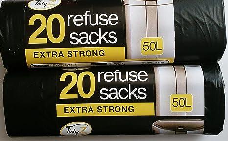 Tidy Z 40 Extra Fuerte 50 litros Bolsas de Basura/2 Paquetes ...