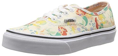 9e0b416140 Vans Kids Authentic Disney Skate Shoes-Ariel White-13.5  Amazon.ca ...
