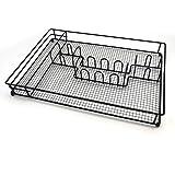 MIUSITE Stainless Steel Silverware Drawer Dividers Kitchen Utensils Organizer Tray, Cutlery Storage Divider for Tableware