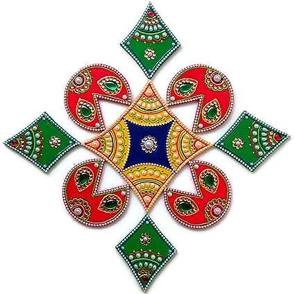 Amazon Com Diwali Christmas Decorations Rangoli Indian Home