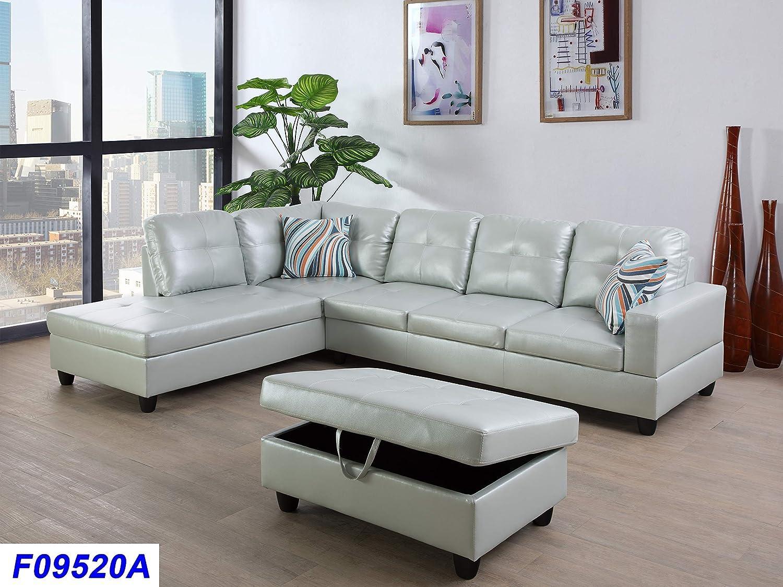 - Amazon.com: Lifestyle Furniture Left Facing 3PC Sectional Sofa Set