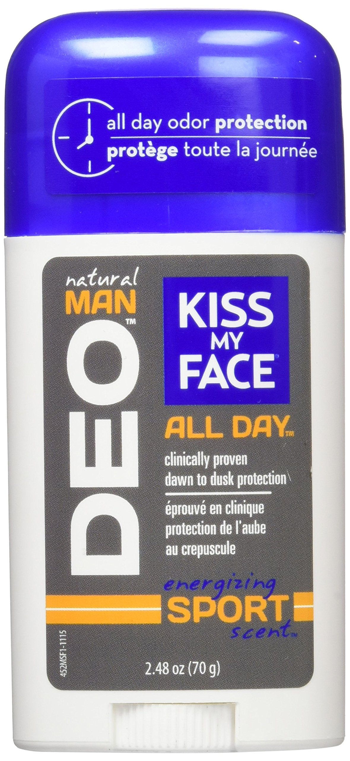 Kiss My Face Natural Man Sports Deodorant, 2.48 Ounce (Pack of 36) by Kiss My Face (Image #2)