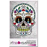 pinkelephant Aufkleber / Autoaufkleber - Sugar Skull 33 - Totenkopf - 12 cm - calavera - Dia de los muertos - Day of the dead